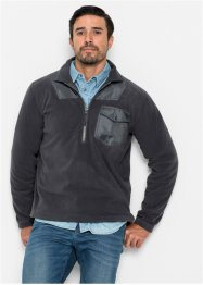 Fleece-Sweatshirt mit Reißverschluss Regular Fit, bpc bonprix collection
