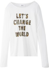 Langarmshirt mit Spruch, bpc bonprix collection