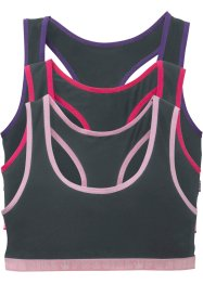 Sport-Bustier (3er-Pack), bpc bonprix collection