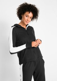 Langarm-Sweatjacke aus Baumwolle, bpc bonprix collection