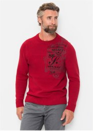 Pullover m. Druck mit recycelter Baumwolle, bpc selection