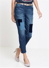7/8-Jeans mit Samt-Badges, bpc selection