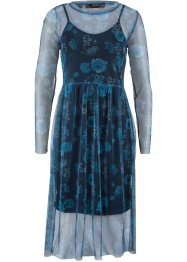 Mesh-Kleid mit Blumendruck, bpc bonprix collection