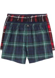 Gewebte Boxershorts aus Flanell (2er-Pack), bpc bonprix collection