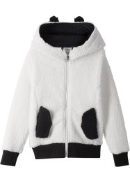 Teddyfleecejacke mit Kapuze, bpc bonprix collection