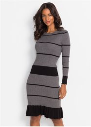Strickkleid mit Volant, BODYFLIRT boutique
