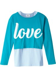 Boxy Langarmshirt mit Top (2-tlg. Set), bpc bonprix collection