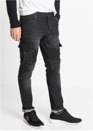 Stretch-Jeans im Biker-Stil Slim Fit Straight, RAINBOW