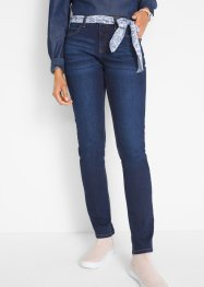 Multi-Stretch-Jeans mit Bindegrürtel, STRAIGHT, John Baner JEANSWEAR