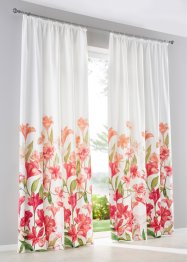 Vorhang mit Blumen Druck (1er Pack), bpc living bonprix collection