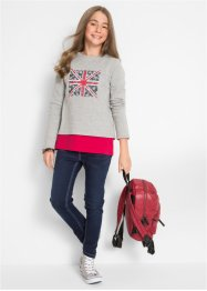 Sweatshirt + Top (2-tlg. Set), bpc bonprix collection