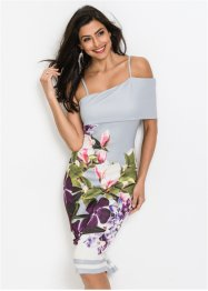Cold-Shoulder-Kleid mit Blumenmotiv, BODYFLIRT boutique
