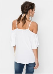 Bedrucktes Top mit Cut-Outs, RAINBOW