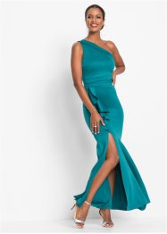 Langes One-Shoulder-Kleid mit Volants, BODYFLIRT boutique