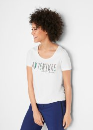 Sport-T-Shirt mit Gummizug am Saum, kurzarm, bpc bonprix collection