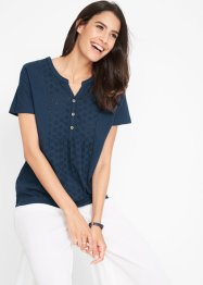 Shirtbluse mit Broderie Anglaise, bpc bonprix collection