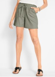 Leinen-Shorts mit Bequembund, bpc bonprix collection