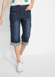 Cargo-Stretch-Jeans in Caprilänge, bpc bonprix collection