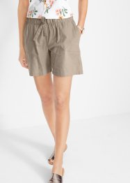 Leinen-Paperbagshorts mit Bindeband, bpc bonprix collection