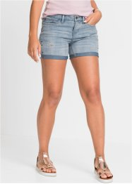 Jeans-Shorts mit Stickerei, RAINBOW