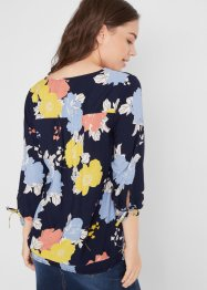 Viskose-Bluse mit 3/4-Arm, bedruckt, bpc bonprix collection