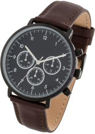 Chronograph mit Lederarmband, bpc bonprix collection