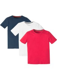 Jungen Basic T-Shirt Bio-Baumwolle (3er-Pack), bpc bonprix collection