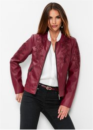 Premium Lederimitat-Jacke mit Applikationen, bpc selection premium