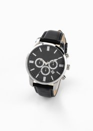 Herren-Chronograph mit Lederarmband, bpc bonprix collection