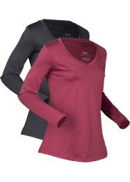 Thermo-Sport-Shirt, 2er-Pack, langarm, bpc bonprix collection