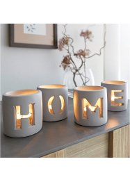 Windlicht mit Home-Design (4-tlg.Set), bpc living bonprix collection