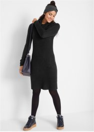 Strickkleid mit weitem Kragen, bpc bonprix collection