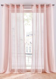 Transparente Gardine mit Streifen (1er Pack), bpc living bonprix collection