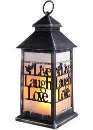 LED-Laterne mit Schriftzug Live, Laugh, Love, bpc living bonprix collection