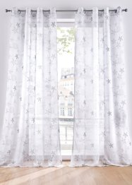 Transparente Gardine mit maritimen Druck (1er Pack), bpc living bonprix collection