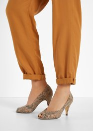 Peeptoe Pumps aus Leder, bpc selection premium