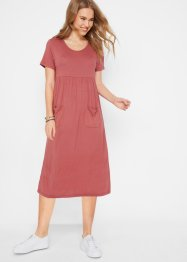 Stretch-Maxikleid mit Rundhals-Ausschnitt, kurzarm, bpc bonprix collection