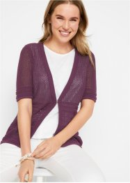 Gut kombinierbare Ajour Strickjacke, bpc bonprix collection