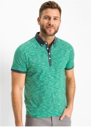Poloshirt mit gewebtem Kragen, bpc bonprix collection