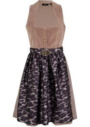 Dirndl in Samt- Optik 2-tlg. Set, bpc bonprix collection