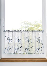 Scheibengardine mit Blumen Stickerei, bpc living bonprix collection