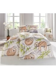 Bettwäsche mit Faultier Druck, bpc living bonprix collection