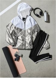 Modische Trainingsjacke in Silber-metallic, bpc bonprix collection