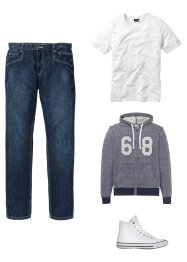 Sweatjacke mit Applikation, John Baner JEANSWEAR