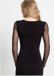 Shirt mit Lederimitat, BODYFLIRT boutique