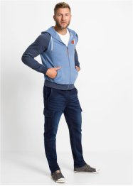 Slim Fit Sweat-Jeans mit Cargotaschen, Straight, John Baner JEANSWEAR