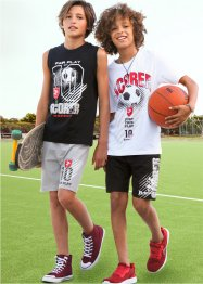 Jungen T-Shirt + Tanktop + Bermudas (4-tlg. Sportset ), bpc bonprix collection