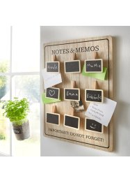 Memoboard mit Kreidetafeln, bpc living bonprix collection