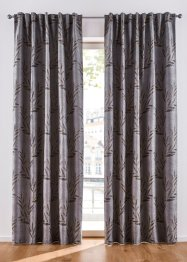 Jacquard Vorhang mit Blätter Motiv (1er Pack), bpc living bonprix collection
