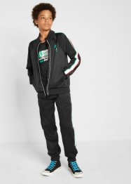 Sweatshirtjacke, Shirt, Hose (3-tlg.Set), bpc bonprix collection